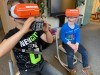 Virtual reality in dino land